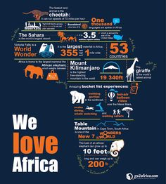 We Love Africa travel infographic {go2africa.com}