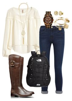 You Can't Sit With Us- High School Prep by robramey17 on Polyvore featuring polyvore, fashion, style, H&M, Frame Denim, Tory Burch, The North Face, MICHAEL Michael Kors, Vera Bradley, Kendra Scott and My Name Necklace