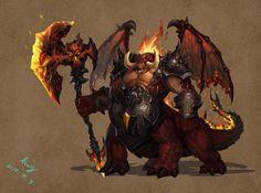 boss, xu king on ArtStation Fantasy Demon, Fantasy Beasts, Fantasy Monster, Monster Art, Dark Fantasy, Cool Monsters, Dnd Monsters, Ange Demon, Demon Art