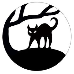 "Black Cat Pumpkin Carving Pattern! Thanks for joining our ""Pin a Pumpkin"" Party!"