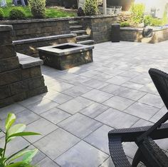 Exclusive Stoneworks created this gorgeous outdoor living room. They used Cambridge Pavingstones with ArmorTec. Cambridge has a unique variety of colors, shapes, and designs to choose from.