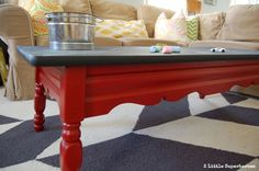 Laminate Coffee Table Gets A Makeover With Chalkboard Paint. Perfect For A  Playroom.
