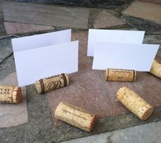 Wine Cork Place Card Holders Set of 25 for by KrystlesWeddings, $15.00