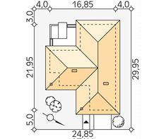 Ambrozja 3 projekt domu - Jesteśmy AUTOREM - DOMY w Stylu Beautiful House Plans, Beautiful Homes, Bungalow House Design, Closet Designs, Home Design Plans, Facade House, My Dream Home, Kitchen Design, Sweet Home