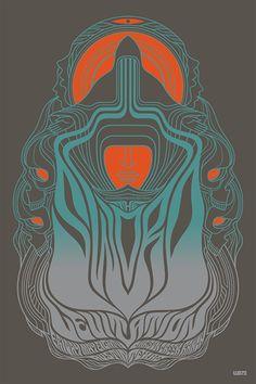 The Sword. Poster design: Weird Beard 72 (2015).
