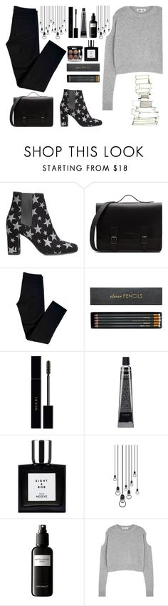 """""""Since We're Alone"""" by apollinariya-664 ❤ liked on Polyvore featuring Yves Saint Laurent, J Brand, Sloane Stationery, Gucci, David Mallett, McQ by Alexander McQueen, Chanel, YSL and finals"""