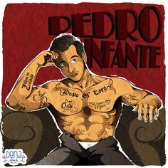 Pedro Infante con mi abuelita Adela veía muchas películas del cine de oro Mexicano .. y siempre me ha gustado él.. jojo bueno esta ilustración ya tiene rato se publicó en Art Jam.. ¿díganme quien era su actor preferido de ese tiempo?