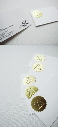 gold foil embosses with the key or confidential icon for the welcome kits, etc.