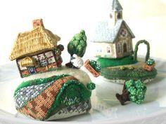 Teeny-Weeny Cross-Stitch Village by Sakoran