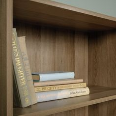 Andover Mills™ Ryker Standard Bookcase & Reviews | Wayfair Small Bookcase, John Grisham, Family Photos, Small Spaces, Neutral, Wood, Furniture, Home Decor, Family Pictures