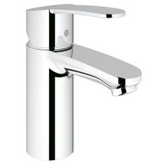 Eurostyle Cosmopolitan Single Hole 1-Handle Low-Arc Bathroom Single Hole Less Drain in Starlight Chrome-23042002 at The Home Depot