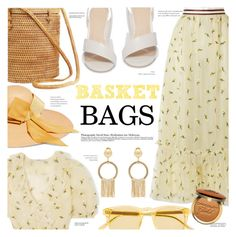 """Basket Bags"" by chocolate-addicted-angel ❤ liked on Polyvore featuring Ganni, Pour La Victoire, Chimi, Prada, Too Faced Cosmetics and Sensi Studio"