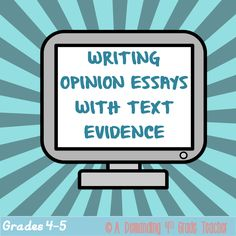 This 3-week unit is an ultimate opinion writing bootcamp, at the end of which your students will know how to: write a well-organized opinion essay in response to a prompt, cite evidence from articles, quote experts, paraphrase, and use transition words and domain-specific vocabulary. $