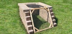 Angled Compost Bin to Keep Critters Out