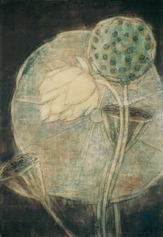 """""""  'Lotus flower on a dark background', 1937 - Christian Rohlfs (1849–1938) """""""