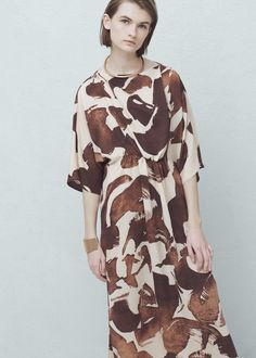 Flowy print dress - Dresses for Women | MANGO