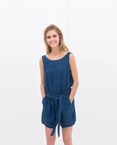 Image 1 of DUNGAREES WITH BELT from Zara
