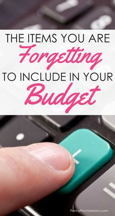 Are you forgetting to add these items to your budget? How to Create a Budget   Get out of Debt   Personal Finance Strategies   Budget Printable Forms via @PennyPinchinMom