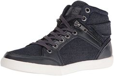 Guess Men's Justice2 Fashion Sneaker, Navy, 9 M Us