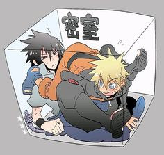 It'd be funny if Naruto farted on Sasuke. Lol! I can just imagine!