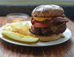 Wendy's Copycat Pretzel Bacon Cheeseburger by My Family Mealtime