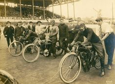 board track racers on indian motorcycles