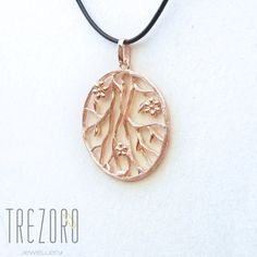 AU$69. Prunus Sinensis  Pendant. Sterling silver, gold plated. Worldwide shipping. Romantic Flowers, Prunus, Tree Bark, Leather Cord, Rose Gold Plates, Pendant Necklace, Sterling Silver, Garden, Earrings