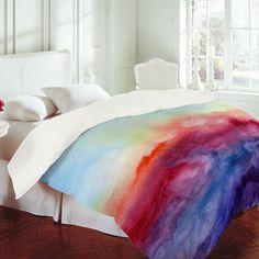 watercolor bed spread