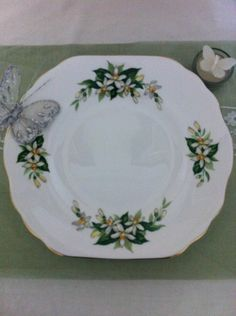 Vintage Cake Plate, Bridal Rose Pattern. by VintageShepherdess on Etsy