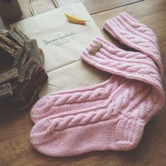 Love these, love the color. Thigh High Socks, Everything Pink, Knitting Socks, Dusty Pink, My Favorite Color, Warm And Cozy, Pretty In Pink, Knit Crochet, Girly