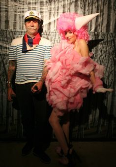 Cotton candy costume - like the hair