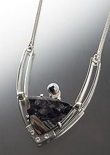 Silver & Stone Necklace by Jan Van Diver