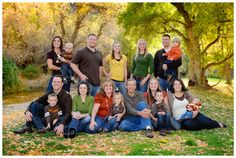 great fall family portrait