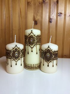 Henna candle set of 3 por hennamahal en Etsy