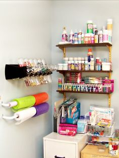 Lots of Craft Room storage ideas - Mad in Crafts