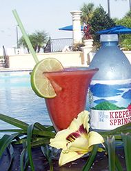 Strawberry Mojito - 1.5 oz. Bacardi Limon, 1.0 oz Lime juice, 1.0oz Simple syrup, Two fresh strawberries, TwoMint leaves, Top with Club soda. Muddle strawberries and mint leaves with the first three ingredients. Shake and pour into glass. Top with soda water. Garnish with a half strawberry and mint sprig.