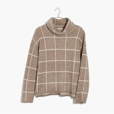 madewell windowpane turtleneck sweater. #giftwell
