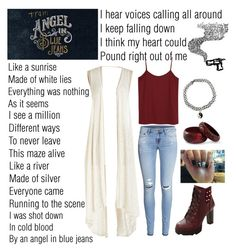 """""""Angel In Blue Jeans"""" by soso-alliso ❤ liked on Polyvore"""