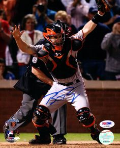 This is a 8x10 Photo that has been hand signed by Buster Posey. It has been certified authentic by PSA/DNA and comes with their sticker and matching certificate.