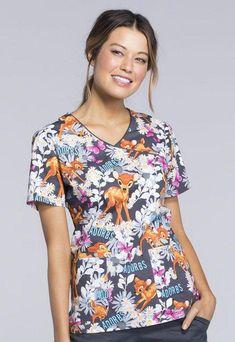 Nickelodeon Nursing Medical Pediatric Character Scrubs Shirt Top XS to 2XL