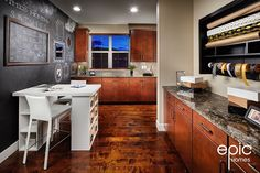 Summit Model Craft Room - 3498 Sq ft Model - Epic Homes, Leyden Rock, Arvada Colorado Broomfield Colorado, Arvada Colorado, Colorado Homes, Wood Flooring, Building A House, New Homes, Models, Spaces, Rock