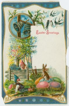 1908 ca. Easter Greetings. Illustrated Postal Card Co. - Publisher digitalgallery.nypl.org