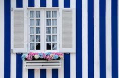 Beautiful typical window Aveiro Portugal