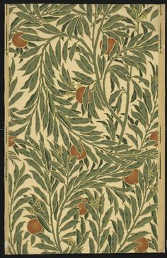 Orange Tree wallpaper 1902 (made) by Walter Crane (V&A) Walter Crane, Branches Of Art, Art Articles, Nature Illustration, Tree Wallpaper, Ornaments Design, William Morris, Paint Designs, Botanical Prints