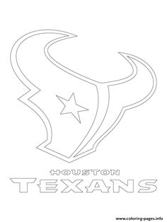 houston texans logo football sport coloring pages printable and coloring book to print for free. Find more coloring pages online for kids and adults of houston texans logo football sport coloring pages to print. Football Coloring Pages, Sports Coloring Pages, Free Coloring Sheets, Coloring Pages For Boys, Coloring Pages To Print, Free Printable Coloring Pages, Fox Coloring Page, Farm Animal Coloring Pages, Coloring Books