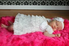 Vintage White christening Lace Dress Only, Blessing Petti Lace Romper, Ruffled Dress, Baby girl & newborn, Pettidress Lace Romper, Lace Ruffle, Ruffle Dress, Blessing Dress, Baby Blessing, Baby Girl Dresses, Baby Dress, Girl Outfits, Dress Girl