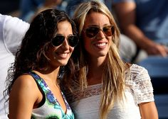 Rafael Nadal of Spain's girlfriend Xisca Perello poses with his sister Isabel Nadal before his men's singles final match against Novak Djoko...and we all know how that turned out ; ) Vamos!!