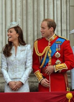 Kate and William during the Trooping of the Colours, 2014