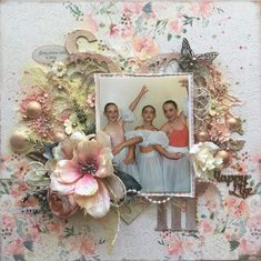 Our #POTD Gorgeous single page layout using FabScraps C105 Memory Lane Collection.
