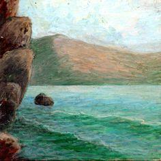 PAOLO SALVATI - Montagna sul mare - Opere di fantasia - 1980.